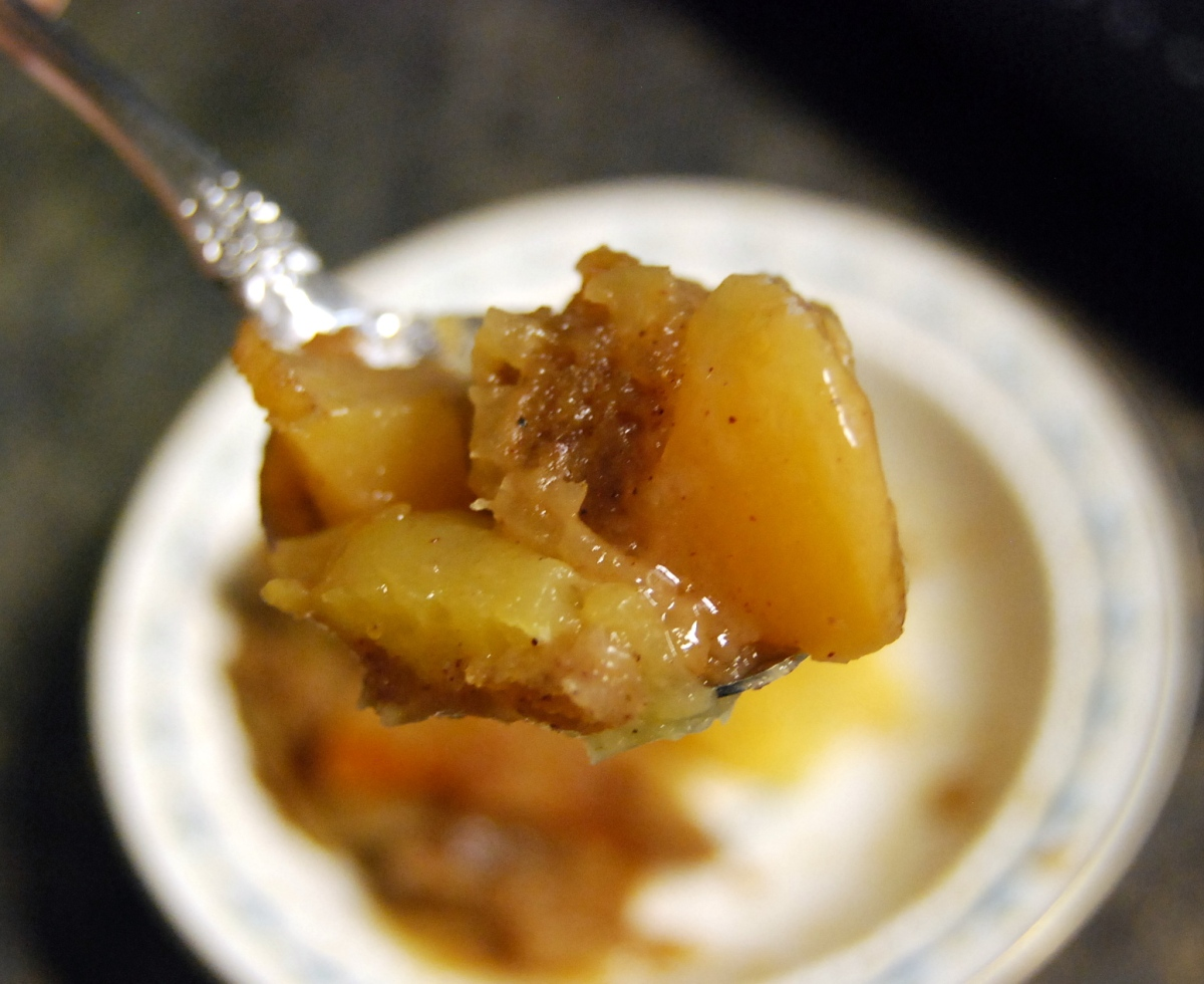 Crock Pot Apple Cobbler Experiment