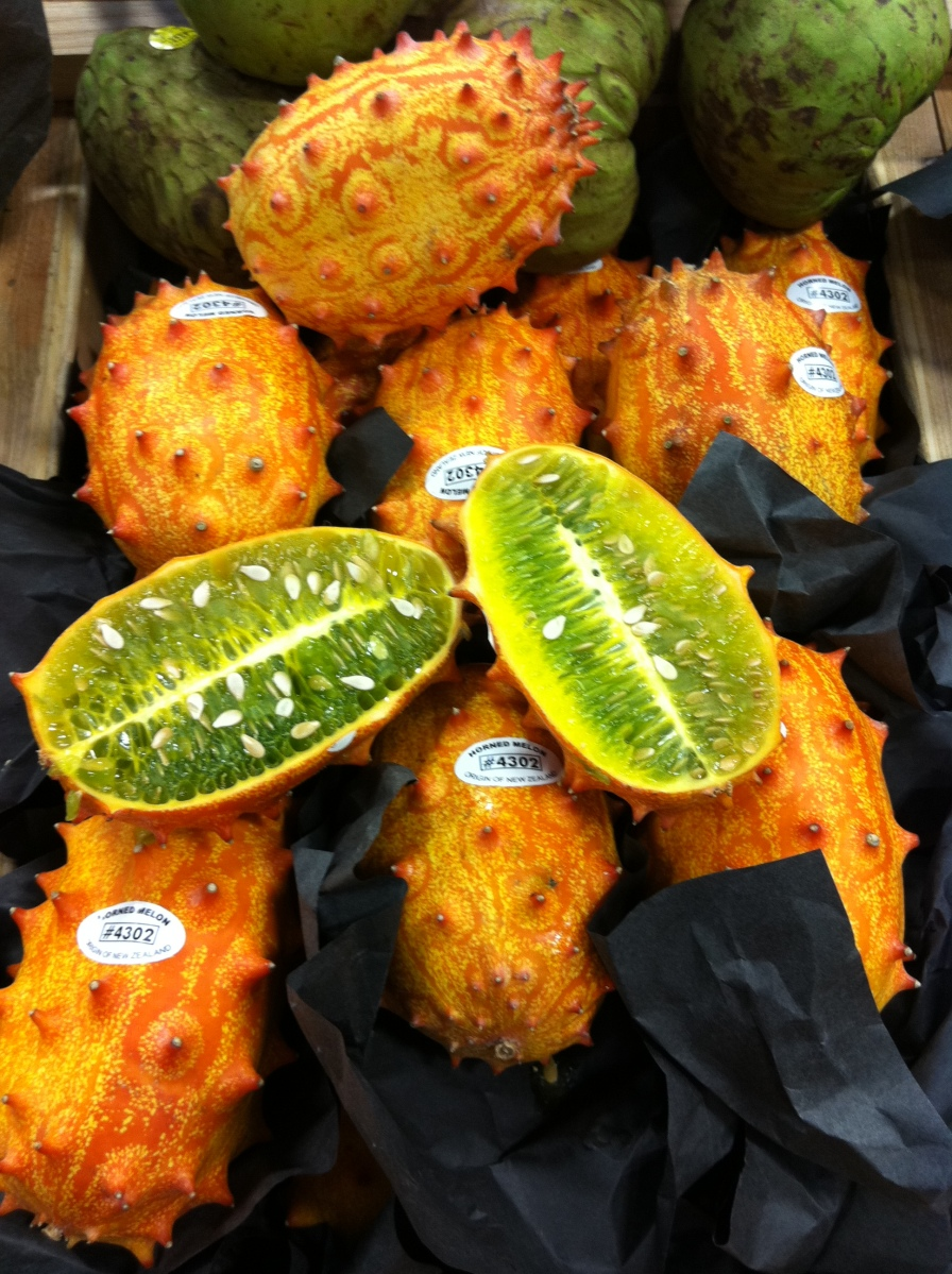 What Does One Do With All Those Exotic Fruits in the Produce Section? - Kiwano (horned melon)