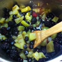 Berry Week: Day 3~ Berry-Green Tomato Cobbler