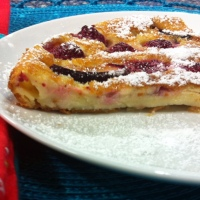 Raspberry-Plum Flaugnarde (Let's Just Call it a French Flan Tart)