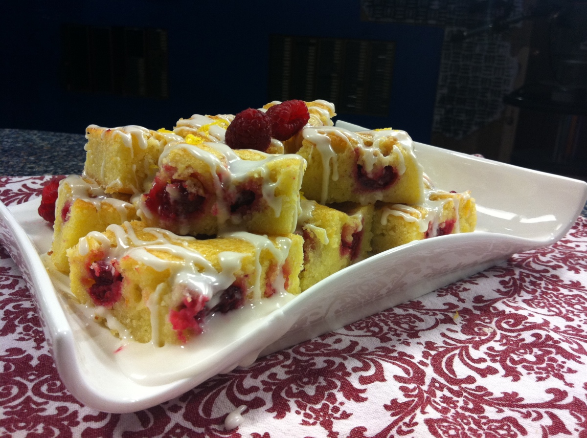 "Berry Week Recipes: Day Two~ Lemon-Raspberry ""Brownies"""