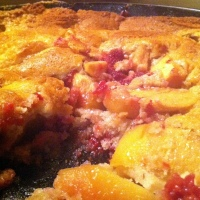 Apple-Raspberry Skillet Cobbler