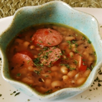 Mama Steph's simple, spicy (and good for you!)  black-eyed pea soup