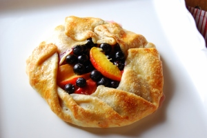 Rustic blueberry-peach galette