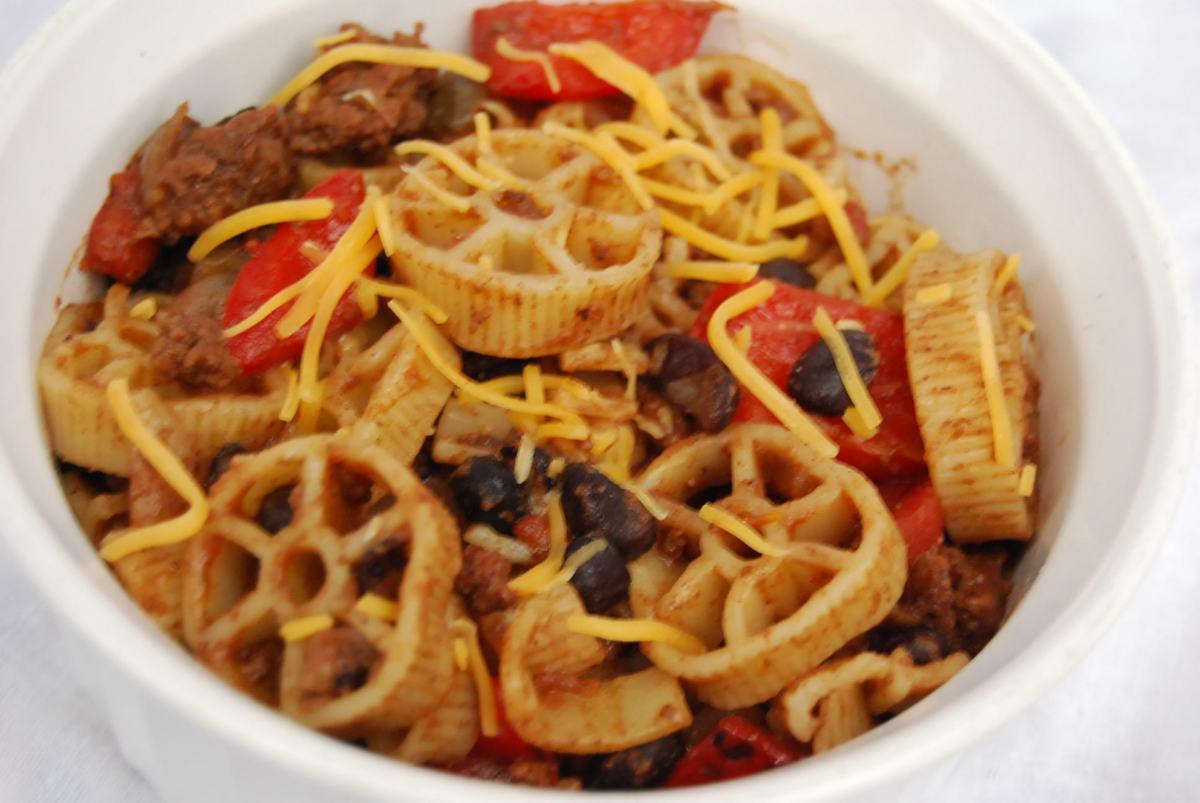 Southwestern wagon wheel pasta