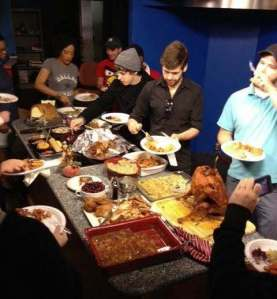 Everyone digging in to the delicious spread! Lots of laughter and fun. My favorite kind of day.