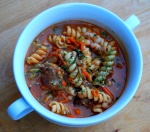 Mama Steph's Italian sausage-vegetable soup