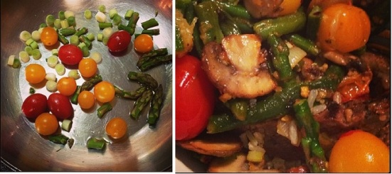 veggie beef bowl