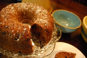 Mama Steph's sour cream-chocolate chip pound cake