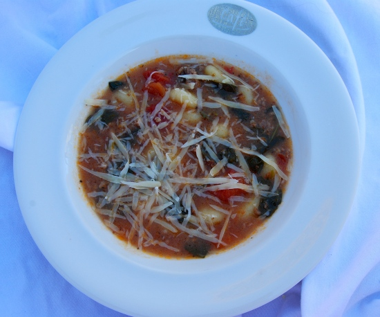 Mama Steph's 6-ingredient soup topped with parmesan