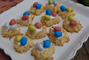 Mama Steph's springtime birds' nest cookies