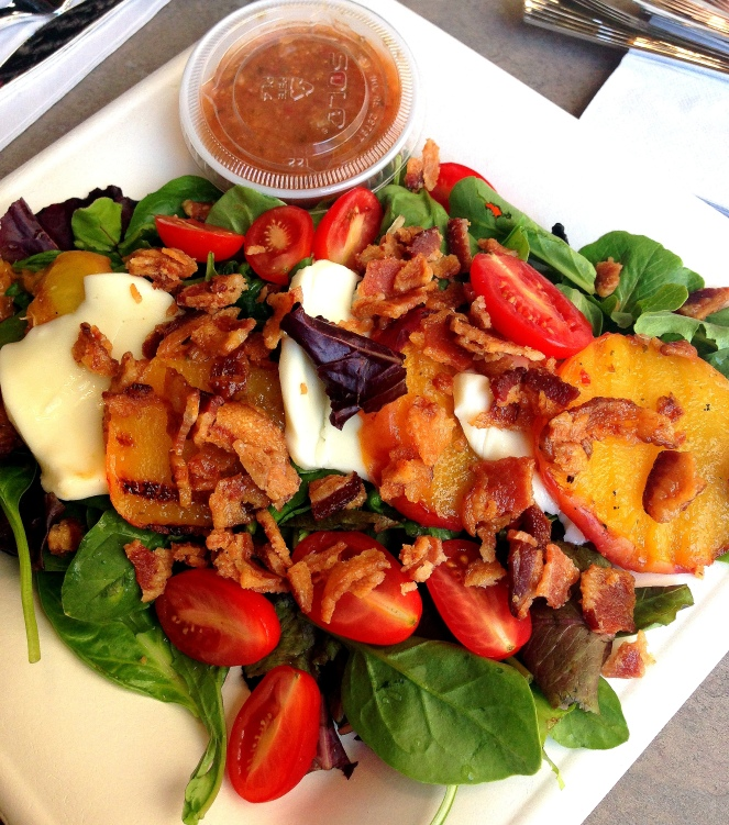 Mama Steph's grilled peach salad