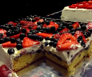 Mama Steph's summerberry cake
