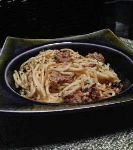 Mama Steph's spaghetti carbonara