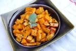 Mama Steph's roasted sweet potatoes with sage-brown butter sauce