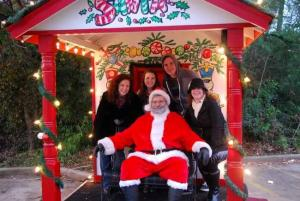 Mama Steph fam with santa