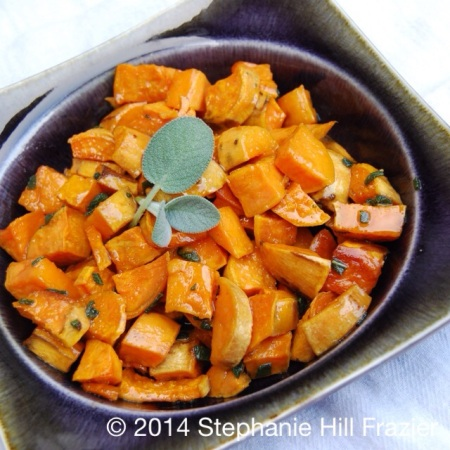 Mama Steph's roasted sweet potatoes