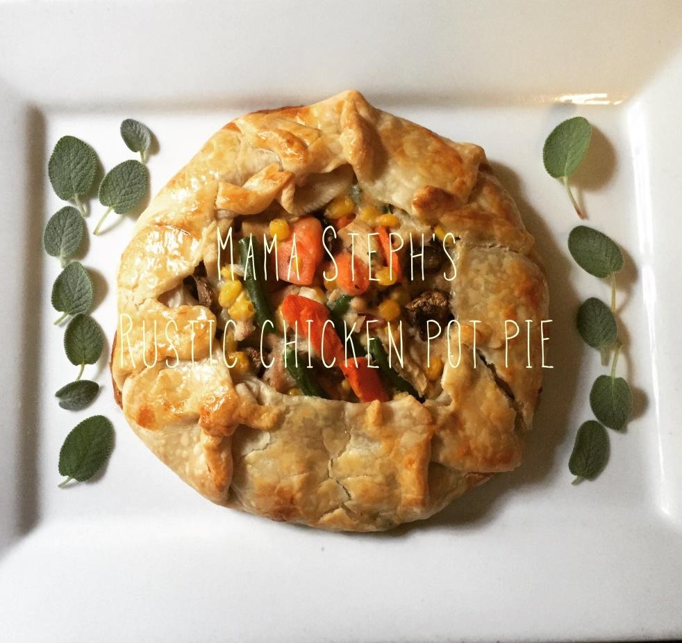 In Mama Steph's Kitchen: Rustic chicken pot pie