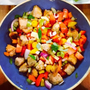 Mama Steph's kicked up panzanella