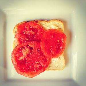 Mama Steph's tomato sandwich of joy