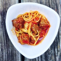 Dad's linguine with Italian sausage