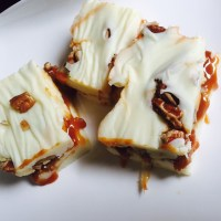 Southern salted caramel-praline fudge