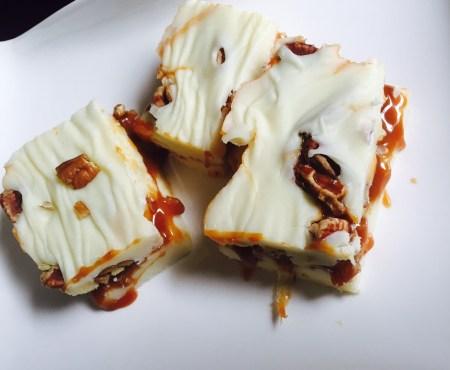 salted caramel praline fudge by mama steph