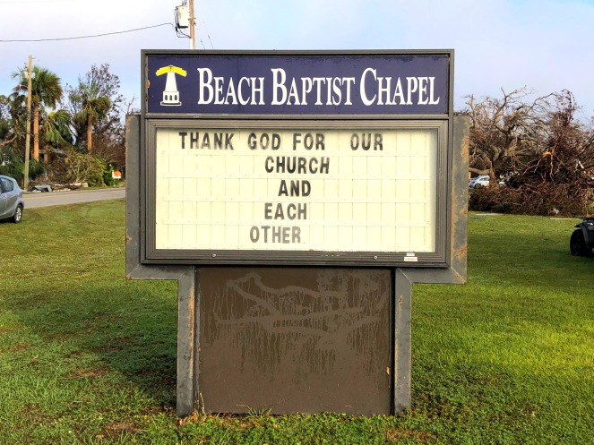 beach baptist sign